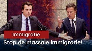 Baudet in verhit debat met Rutte over immigratie