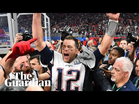 134a30cf644 New England Patriots celebrate record-tying sixth Super Bowl after victory  over LA Rams – video | Sport | The Guardian