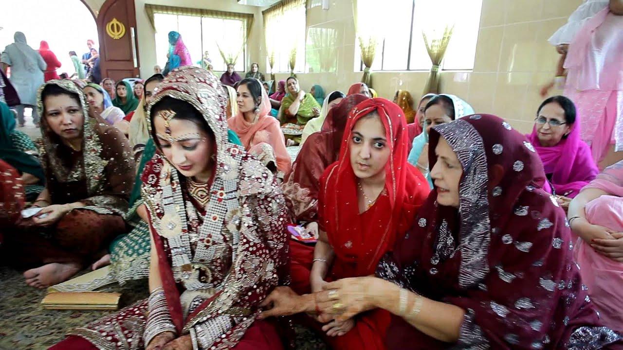 Sikh Wedding Ceremony Sangeet Maiyan Anand Karaj