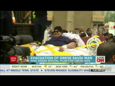Saudi man weighs 1,345 pounds, WTF? ( Where's the Food?)