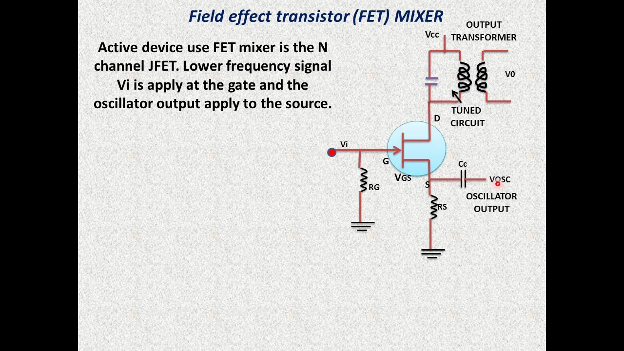 Frequency Mixer Circuit Using Transistor