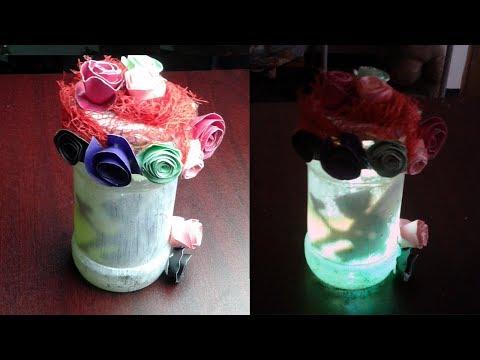 খুব সুন্দর শোপিস আইডিয়া  - DIY Fairy Lantern Jar