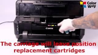 Installation Refilling cartridges Canon IP7240