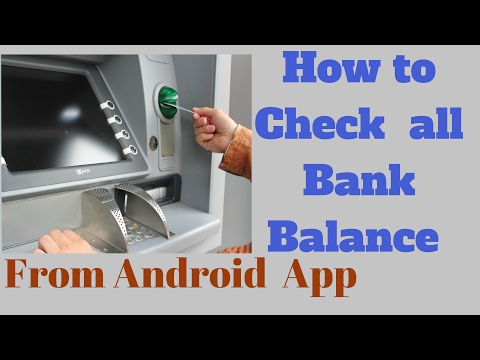 How to Check ALL Bank Balance From Android Mobile App