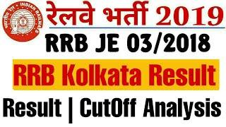 RRB Kolkata JE 2018 CBT 1 Exam Result u0026 Cutoff Analysis