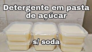 Detergente Em Pasta Sem Soda Super Potente
