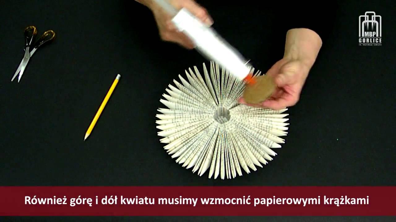 Papierowe Inspiracje Cz 4 Kwiaty Z Papieru Youtube