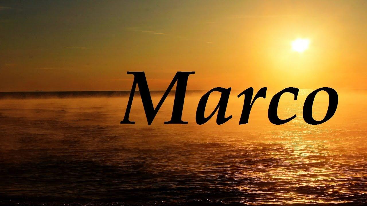 Marco, significado y origen del nombre - YouTube