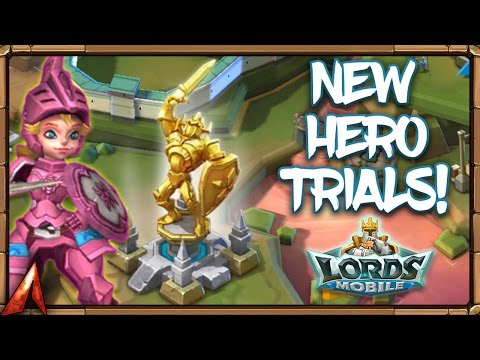 Lords Mobile New Hero Trials! Challenge Chapter 1! 1-3 And 1-6!