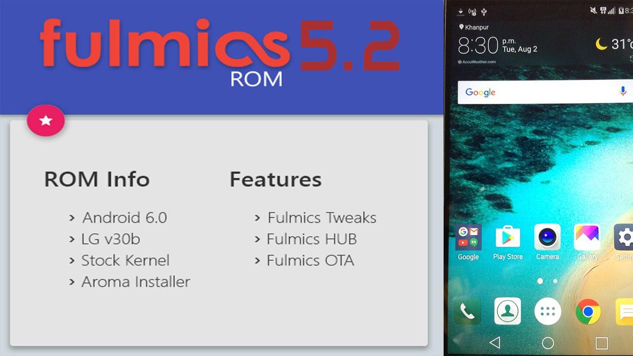 Fulmics 5.2 ROM for LG G3