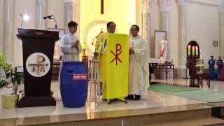 Gx Giuse Lao công Chợ cũ: Thứ 7 Tuần Thánh (15.04.2017) Phụng vụ Phép Rửa