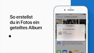 "So erstellst du in ""Fotos"" ein geteiltes Album — Apple Support"