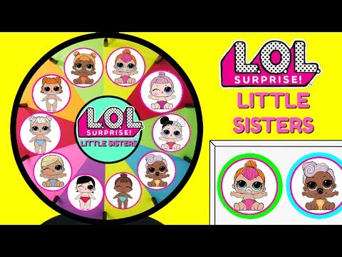 LOL SURPRISE LITTLE SISTERS SERIES 2 Spinning Wheel Game | Lil Outrageous Littles Baby Dolls