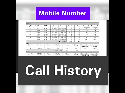 How to get call and sms details or history of any idea prepaid mobile number