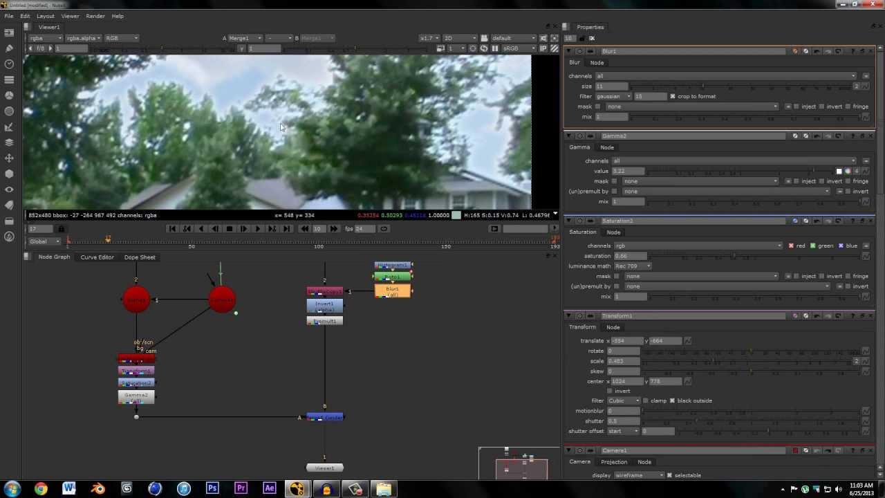 Nuke tutorial: keying und 2d-greenscreen-compositing    teil 1.