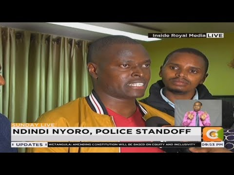 Ndindi Nyoro holed in Citizen TV's premises as police lay waiting to arrest him