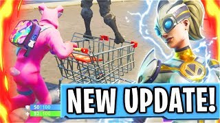 How To Use REFUND SYSTEM + New SHOPPING CARTS In Fortnite Battle Royale! (New Fortnite Free Update)