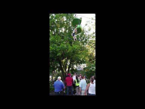 RAW VIDEO: Girl falls from Six Flags ride (Loren Lent via WTEN-TV)