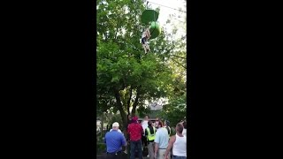 RAW VIDEO: Girl falls from Six Flags ride (Loren Lent via WTEN-TV)