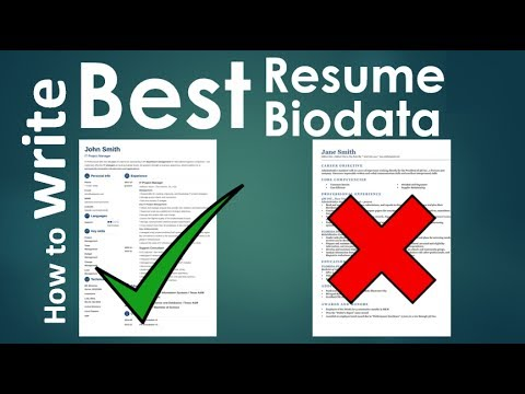 How to write a powerful Killer Resume / Biodata / CV - YouTube
