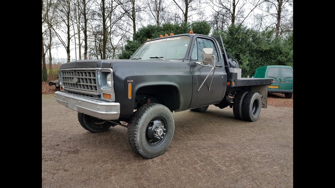 Used Pickup Trucks >> 1980 Chevrolet K30 pickup truck with 502ci - YouTube