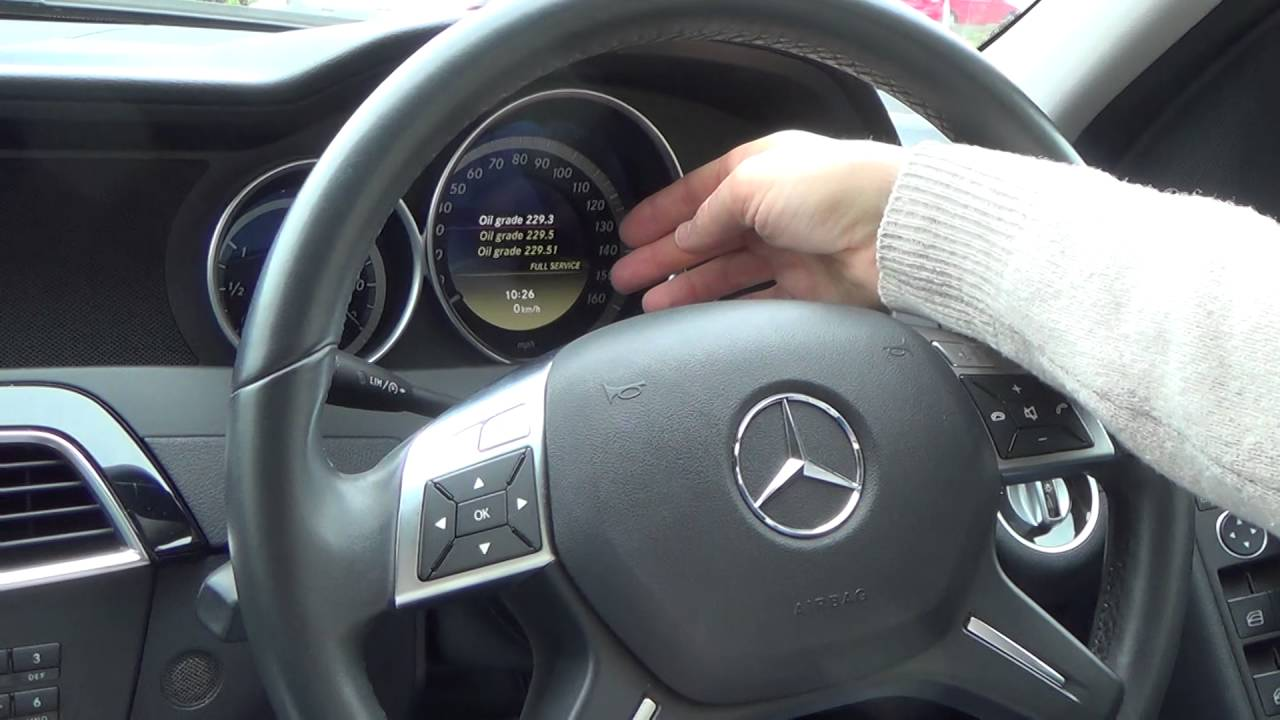 How To Reset The Service Indicator Light On A 2017 Mercedes Benz C Cl W204 And Other Models You
