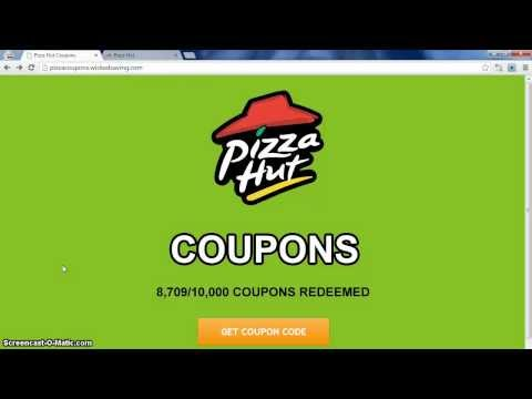 Free Pizza Hut Coupons [UPDATED 2013]