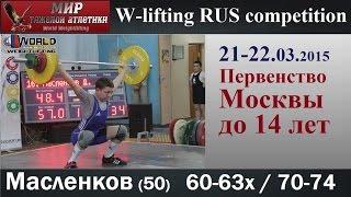 21-22.03.2015.MASLENKOV-50.(60,63х/70,74).Moscow Championship to 14 years.