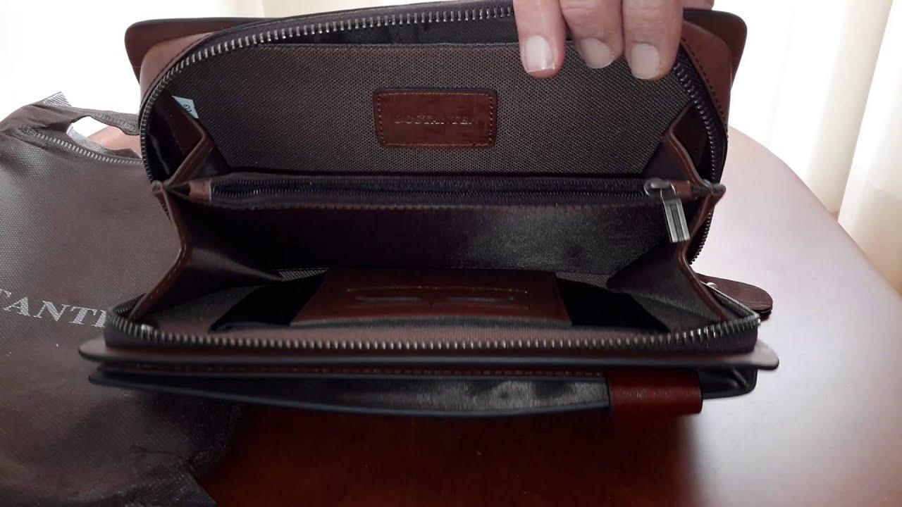 5bad50bd6d BOSTANTEN leather Wallet Purse Handbag from BANGGOOD - YouTube