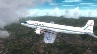 FS2004 HD - Flight of Douglas DC-6B