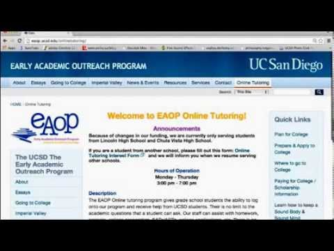 Early Academic Outreach Program Online Tutoring