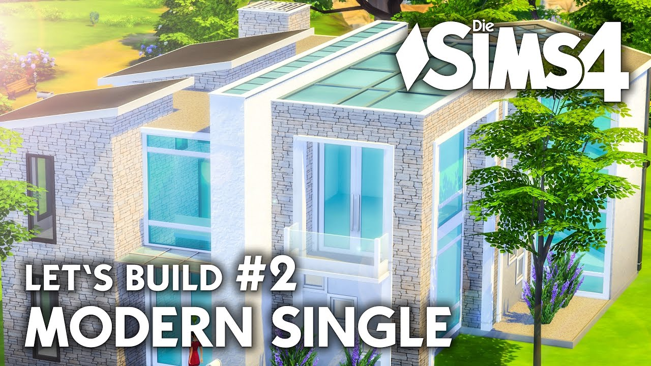 Haus bauen modern  Die Sims 4 Haus bauen | Modern Single #2 - Let's Build (deutsch ...