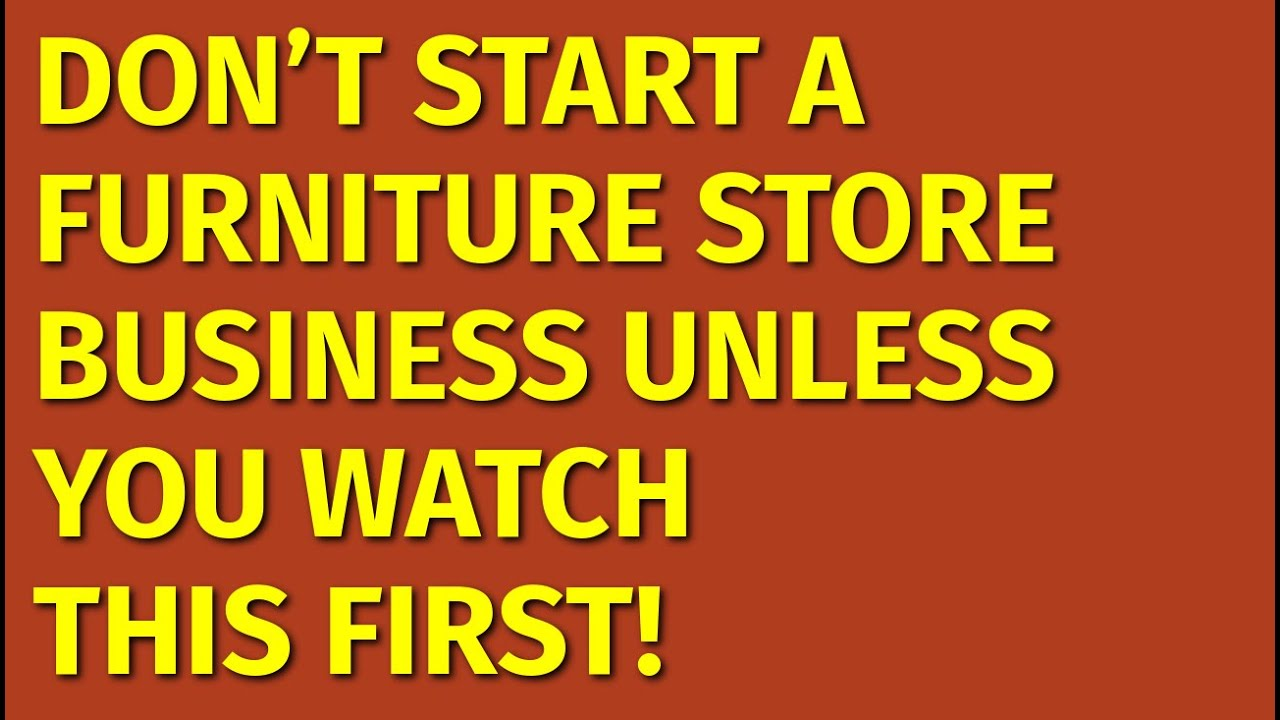 How To Start A Furniture Store Business Plan Pdf Free Book Pdf Download
