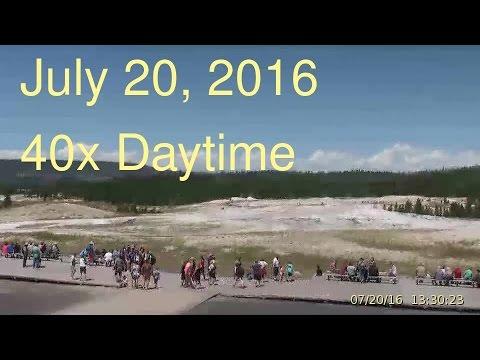 July 20, 2016 Upper Geyser Basin Daytime Streaming Camera Captures