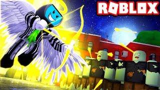 Angel Element In Zombie Survival Mode | Roblox Elemental Battlegrounds