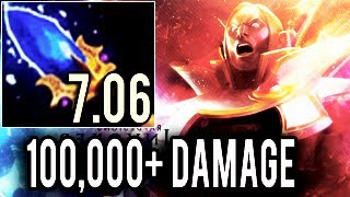 100k Damage Pro Invoker Sumiya 96 Min Game ► Most Hard Game Ever 7.06 Dota 2