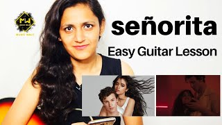 Señorita- Shawn Mendes, Camila Cabello| Easy Guitar Lesson| Full Song| Music wale