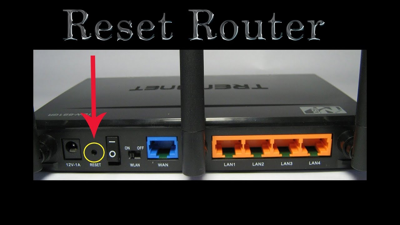 How to reset the router settings 60