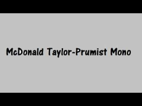 McDonald Taylor - Prumist Mono (PNG Music)