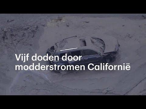 Modderstromen Californië: twee centimeter neerslag - RTL NIEUWS