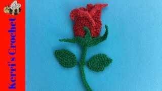 Crochet Rose Applique and Bookmark Tutorial