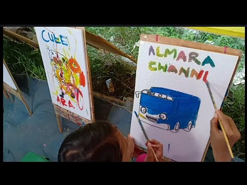 Belajar Mewarnai Gambar Bus Tayo Dan Spongebob Youtube