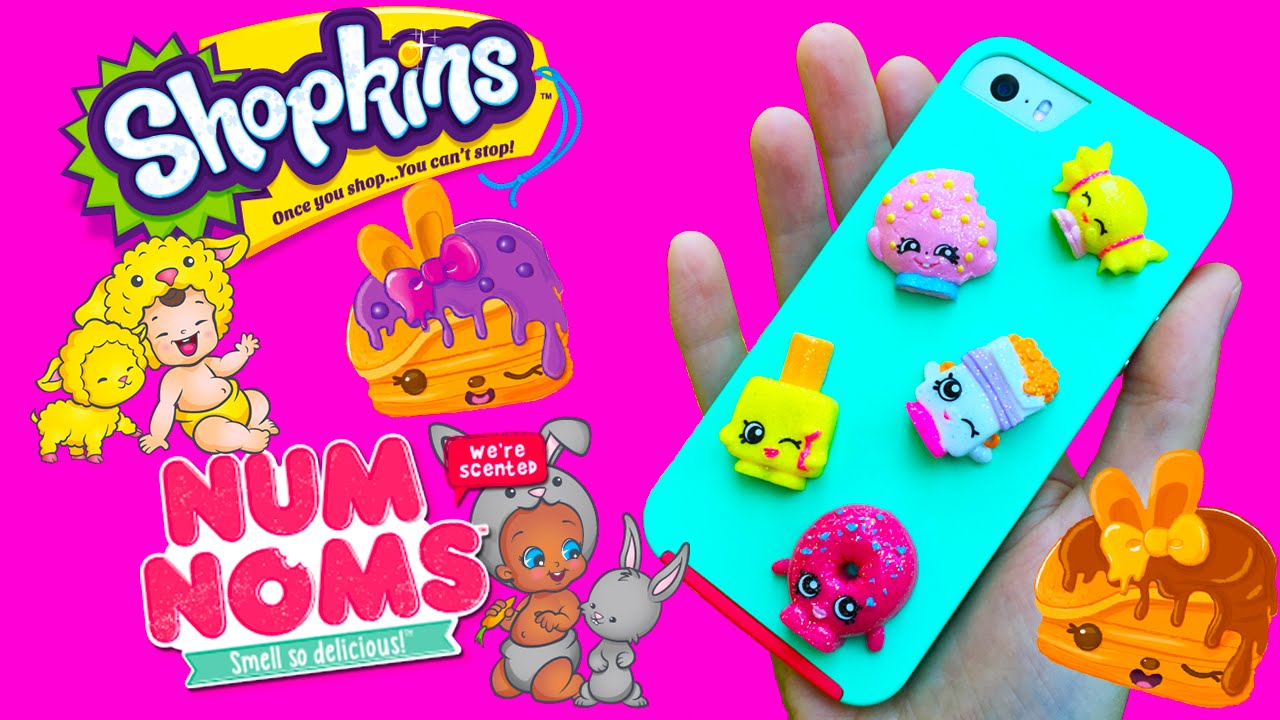 the latest 4adc9 e1105 Shopkins DIY Back To School Phone Case Plus Twozies & Num Noms Series 2  Blind Bags