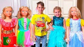 Cinco Crianças - Mania e série engraçada para crianças Сompilação de vídeos para crianças