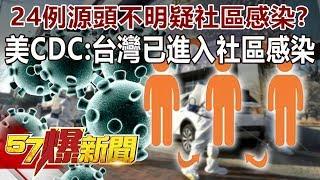 24例源頭不明疑社區感染? 美CDC:台灣已進入社區感染-馬西屏 徐俊相《57爆新聞》精選篇 網路獨播版