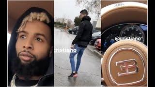 Odell Beckham Jr  Low Key Jealous Of Cristiano Ronaldo's Bugatti Chiron