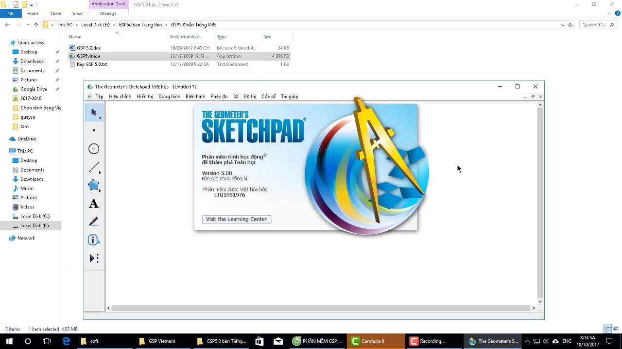 Cài đặt phần mềm vẽ hình học Sketchpad