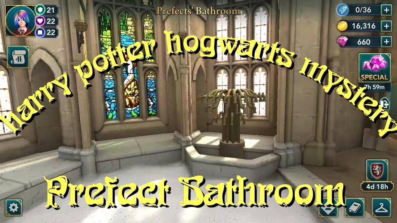 PREFECTS' BATHROOM HARRY POTTER HOGWARTS MYSTERY - YouTube