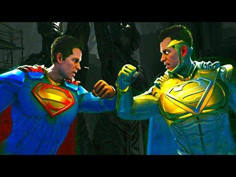Injustice 2 - Superman vs God Superman - All Mirror Intro Dialogue, Clash Quotes and Supermoves