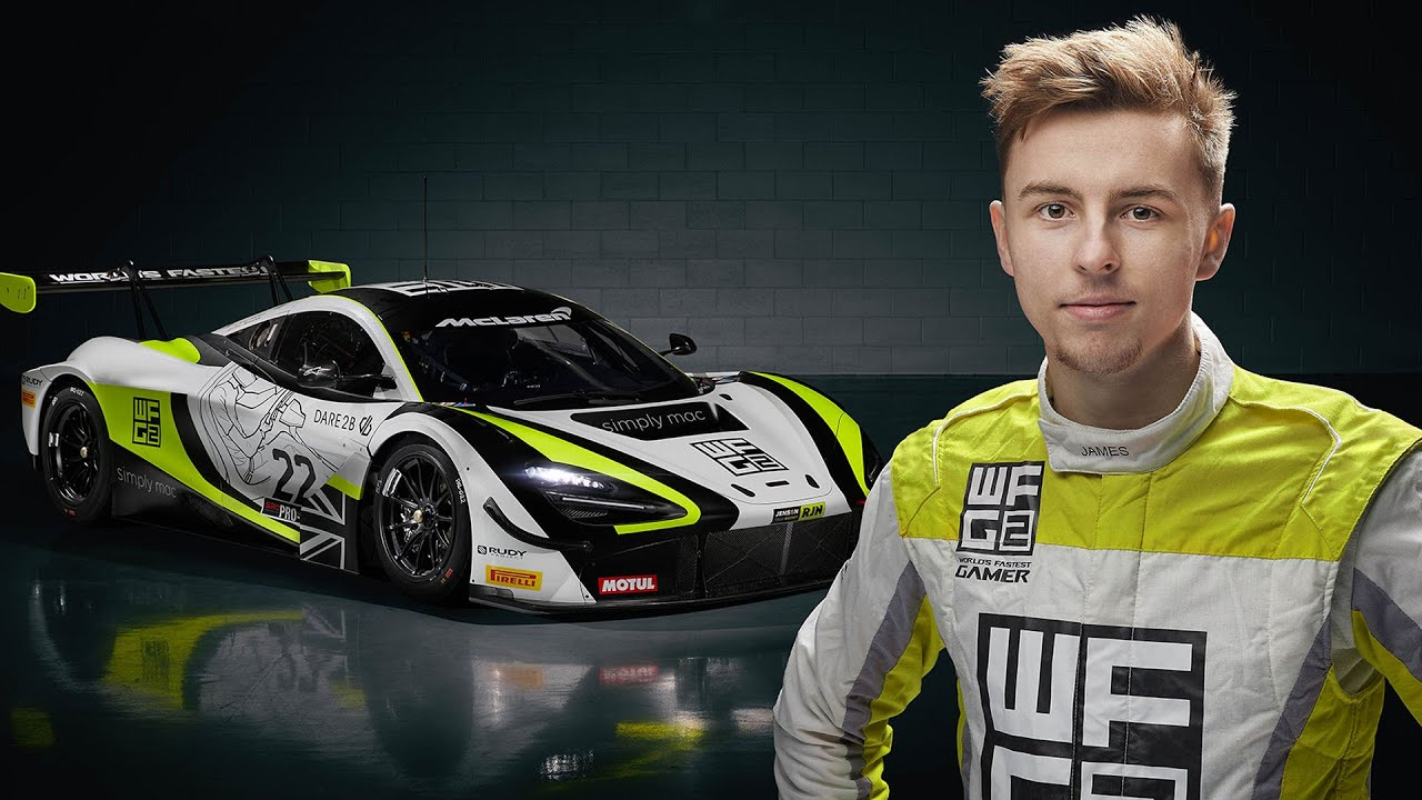 F1 driver hires a pro-gamer as a REAL LIFE GT3 driver! Meet James Baldwin, Worlds Fastest Gamer - YouTube